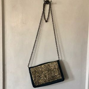 Deena & Ozzy Hammered Gold Crossbody & Clutch